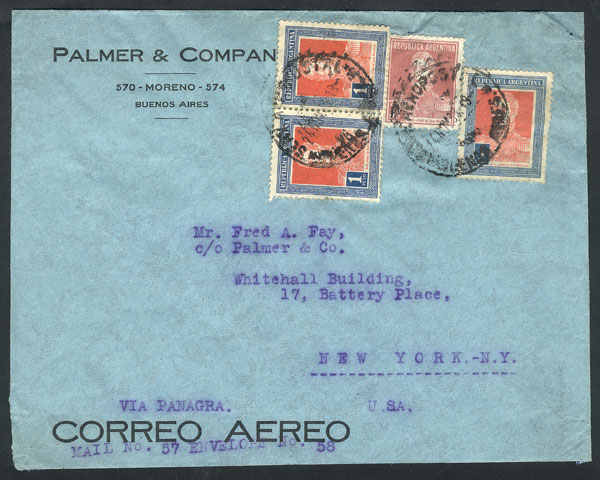 Lot 350 - Argentina postal history -  Guillermo Jalil - Philatino Auction # 2110 WORLDWIDE + ARGENTINA: End of Summer auction