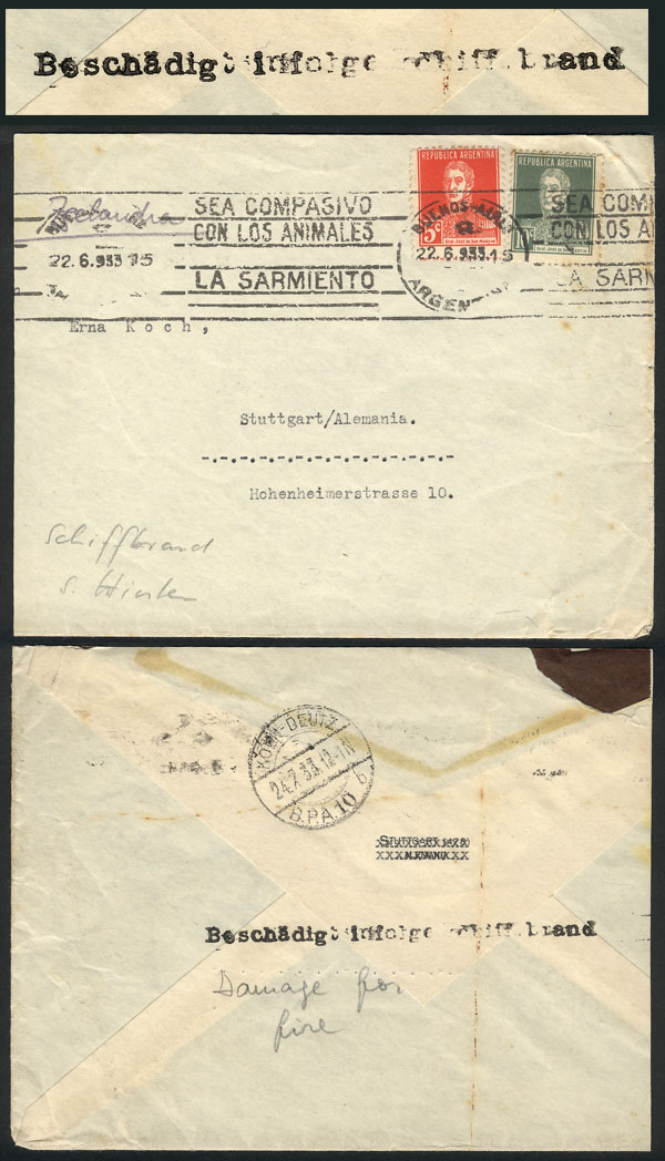 Lot 79 - germany postal history -  Guillermo Jalil - Philatino Auction # 2110 WORLDWIDE + ARGENTINA: End of Summer auction