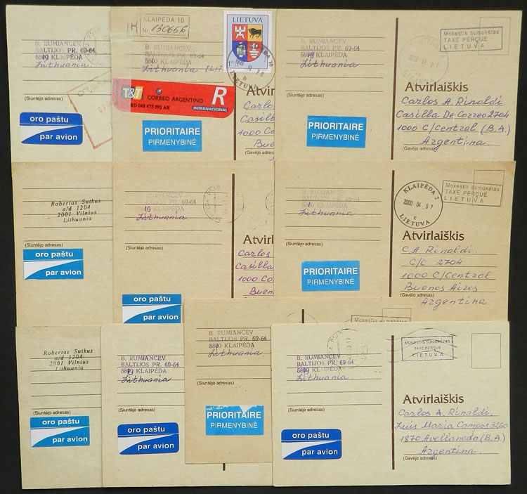 Lot 1067 - Lithuania postal history -  Guillermo Jalil - Philatino Auction # 2110 WORLDWIDE + ARGENTINA: End of Summer auction