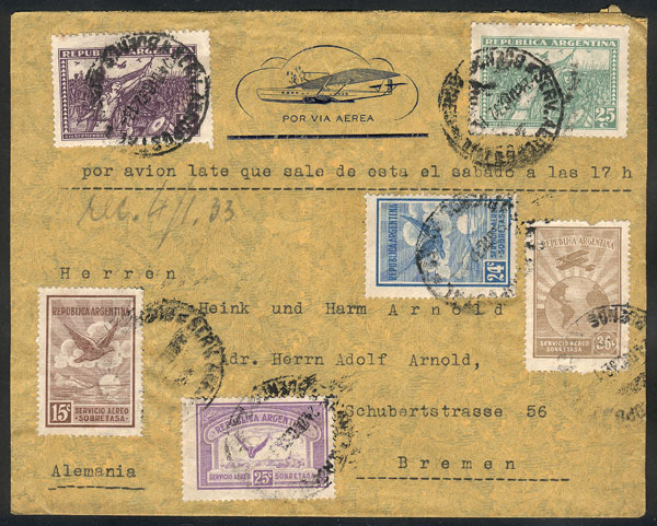 Lot 349 - Argentina postal history -  Guillermo Jalil - Philatino Auction # 2110 WORLDWIDE + ARGENTINA: End of Summer auction