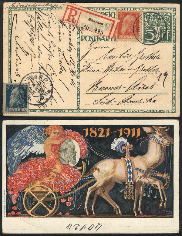 Lot 62 - germany postal history -  Guillermo Jalil - Philatino Auction # 2110 WORLDWIDE + ARGENTINA: End of Summer auction