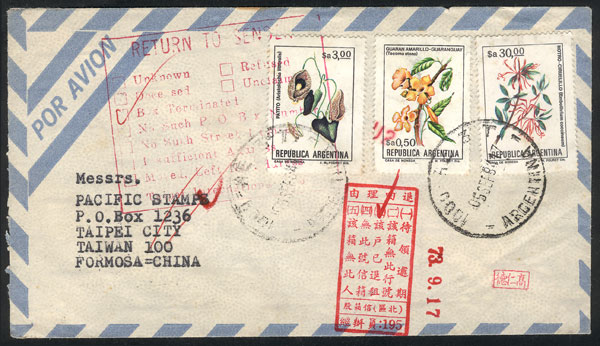 Lot 424 - Argentina postal history -  Guillermo Jalil - Philatino Auction # 2110 WORLDWIDE + ARGENTINA: End of Summer auction