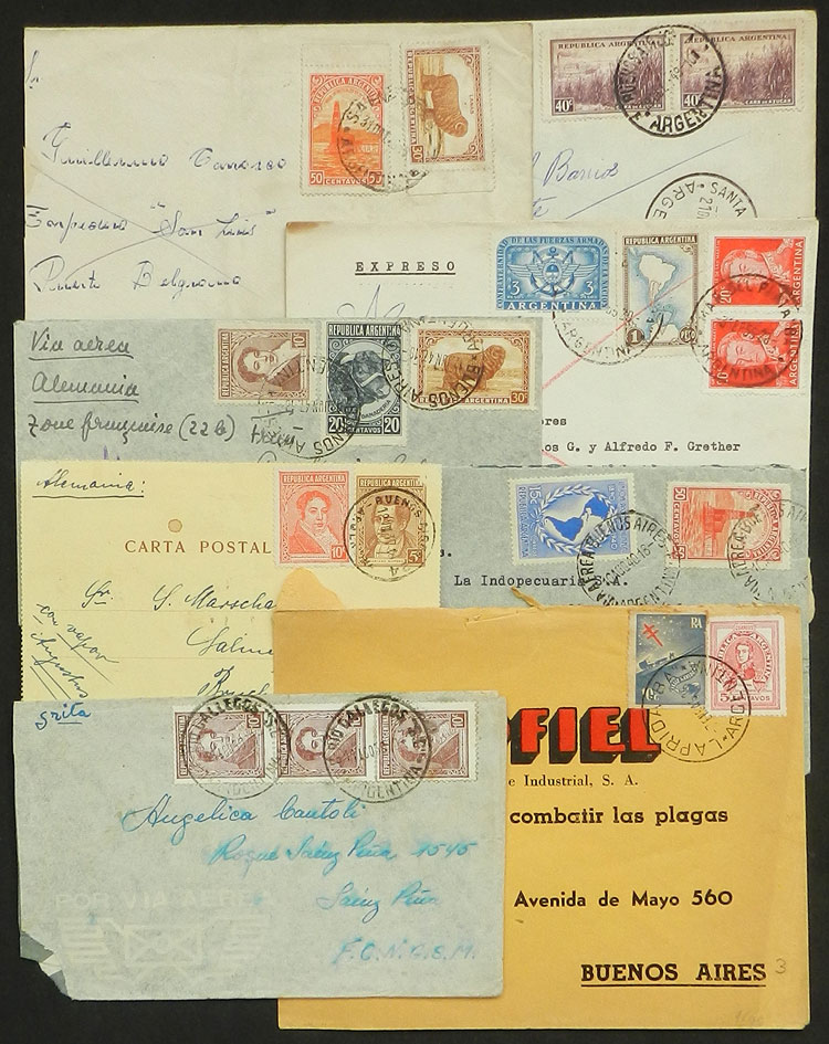 Lot 352 - Argentina postal history -  Guillermo Jalil - Philatino Auction # 2110 WORLDWIDE + ARGENTINA: End of Summer auction