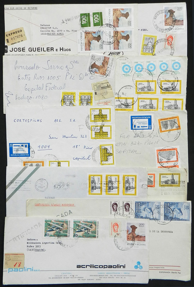 Lot 399 - Argentina postal history -  Guillermo Jalil - Philatino Auction # 2110 WORLDWIDE + ARGENTINA: End of Summer auction