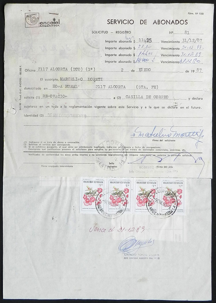 Lot 430 - Argentina postal history -  Guillermo Jalil - Philatino Auction # 2110 WORLDWIDE + ARGENTINA: End of Summer auction