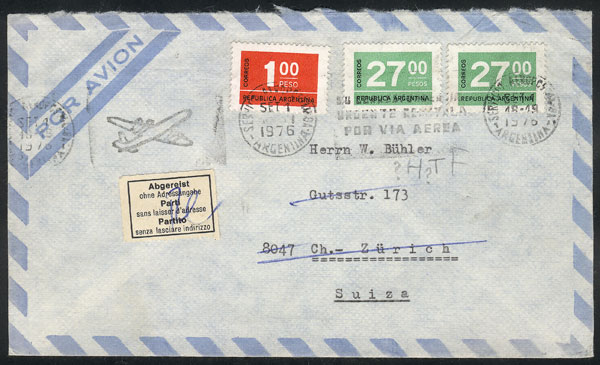Lot 405 - Argentina postal history -  Guillermo Jalil - Philatino Auction # 2110 WORLDWIDE + ARGENTINA: End of Summer auction