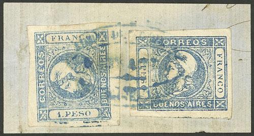 Lot 3 - Argentina cabecitas -  Guillermo Jalil - Philatino Auction # 2111 ARGENTINA: Special April auction