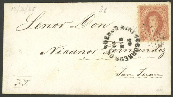 Lot 34 - Argentina rivadavias -  Guillermo Jalil - Philatino Auction # 2111 ARGENTINA: Special April auction