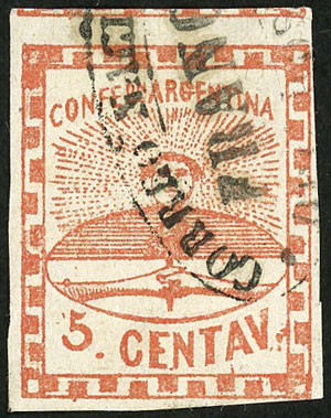 Lot 9 - Argentina confederation -  Guillermo Jalil - Philatino Auction # 2111 ARGENTINA: Special April auction