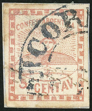 Lot 6 - Argentina confederation -  Guillermo Jalil - Philatino Auction # 2111 ARGENTINA: Special April auction