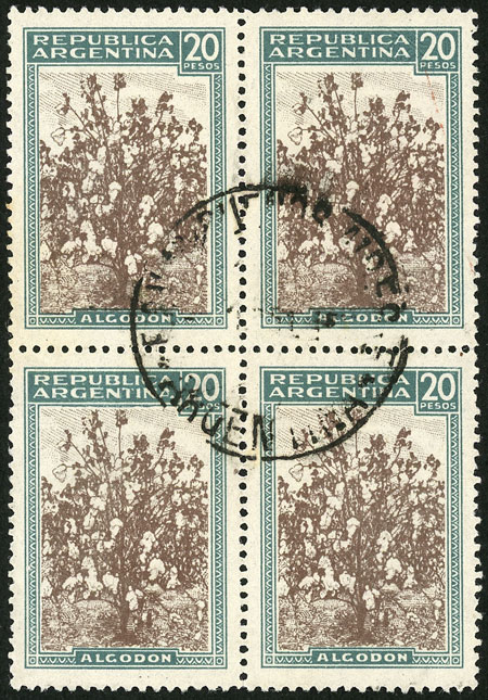 Lot 114 - Argentina general issues -  Guillermo Jalil - Philatino Auction # 2111 ARGENTINA: Special April auction