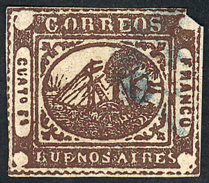 Lot 2 - Argentina barquitos -  Guillermo Jalil - Philatino Auction # 2111 ARGENTINA: Special April auction
