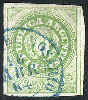 Lot 21 - Argentina escuditos -  Guillermo Jalil - Philatino Auction # 2111 ARGENTINA: Special April auction