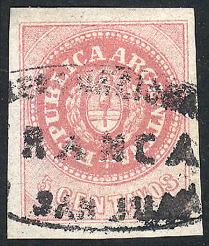 Lot 12 - Argentina escuditos -  Guillermo Jalil - Philatino Auction # 2111 ARGENTINA: Special April auction