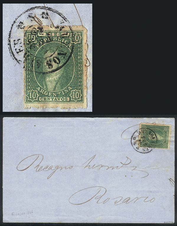 Lot 38 - Argentina rivadavias -  Guillermo Jalil - Philatino Auction # 2111 ARGENTINA: Special April auction