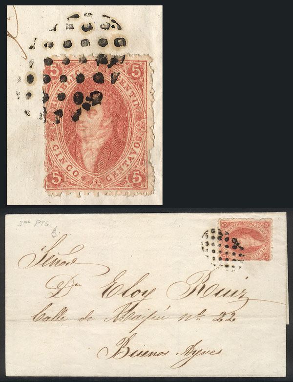 Lot 29 - Argentina rivadavias -  Guillermo Jalil - Philatino Auction # 2111 ARGENTINA: Special April auction