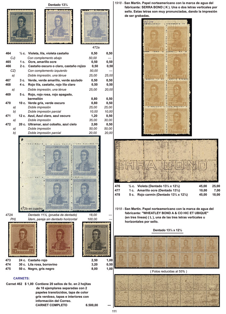 Lot 1 - Argentina books -  Guillermo Jalil - Philatino Auction # 2112 ARGENTINA: Auction with interesting lots at budget prices!