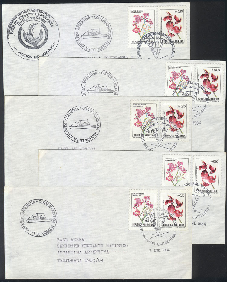 Lot 9 - argentine antarctica postal history -  Guillermo Jalil - Philatino Auction # 2112 ARGENTINA: Auction with interesting lots at budget prices!