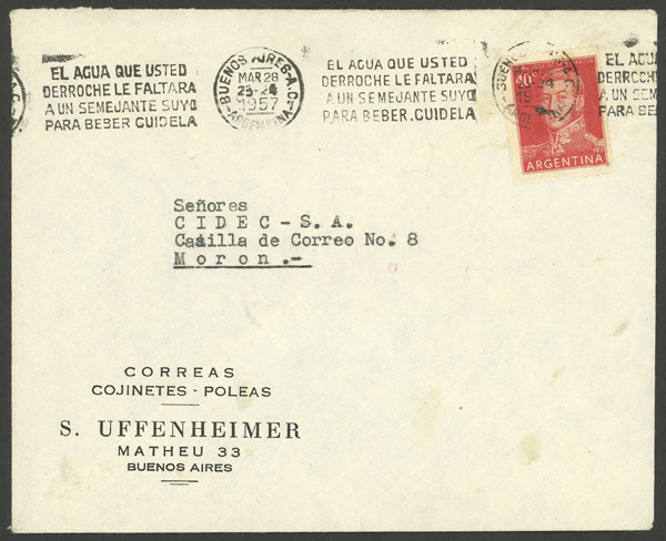 Lot 1591 - Argentina postal history -  Guillermo Jalil - Philatino Auction # 2112 ARGENTINA: Auction with interesting lots at budget prices!