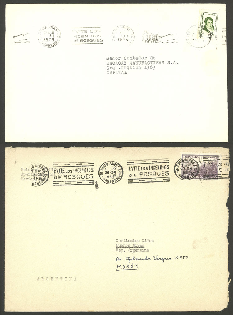 Lot 1609 - Argentina postal history -  Guillermo Jalil - Philatino Auction # 2112 ARGENTINA: Auction with interesting lots at budget prices!