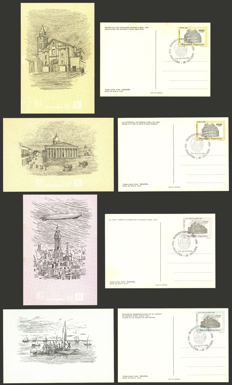 Lot 1444 - Argentina Postal stationery -  Guillermo Jalil - Philatino Auction # 2112 ARGENTINA: Auction with interesting lots at budget prices!