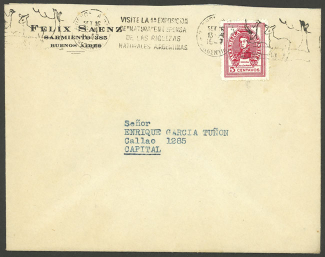 Lot 1503 - Argentina postal history -  Guillermo Jalil - Philatino Auction # 2112 ARGENTINA: Auction with interesting lots at budget prices!