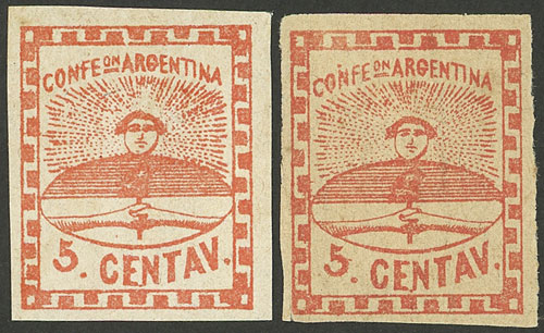 Lot 38 - Argentina confederation -  Guillermo Jalil - Philatino Auction # 2112 ARGENTINA: Auction with interesting lots at budget prices!