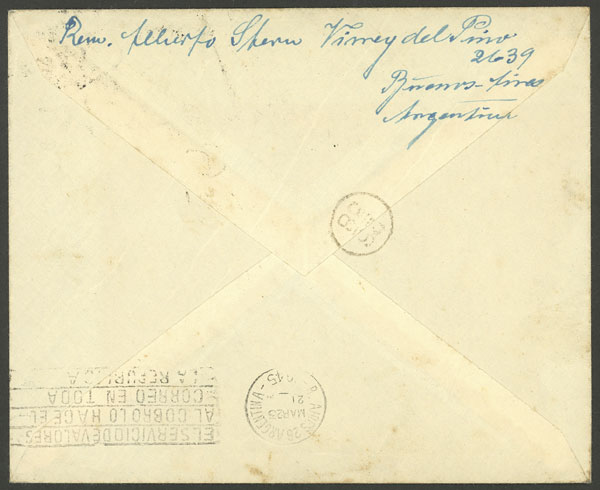 Lot 20 - ARGENTINE ANTARCTICA - ISLAS ORCADAS postal history -  Guillermo Jalil - Philatino Auction # 2112 ARGENTINA: Auction with interesting lots at budget prices!