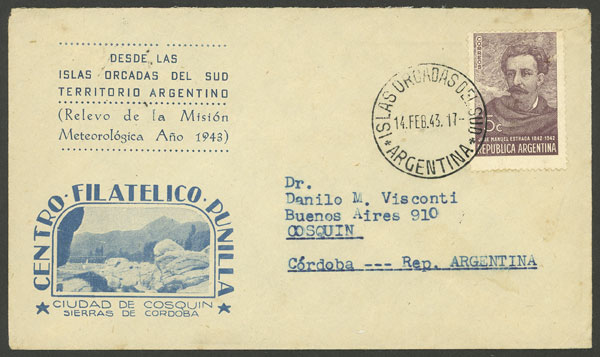 Lot 19 - ARGENTINE ANTARCTICA - ISLAS ORCADAS postal history -  Guillermo Jalil - Philatino Auction # 2112 ARGENTINA: Auction with interesting lots at budget prices!