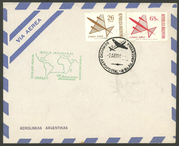 Lot 1610 - Argentina postal history -  Guillermo Jalil - Philatino Auction # 2112 ARGENTINA: Auction with interesting lots at budget prices!