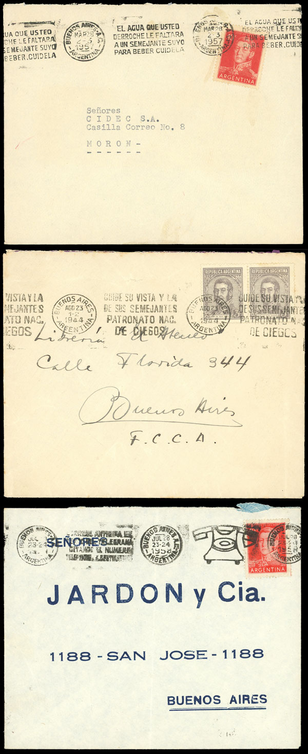Lot 1478 - Argentina postal history -  Guillermo Jalil - Philatino Auction # 2112 ARGENTINA: Auction with interesting lots at budget prices!