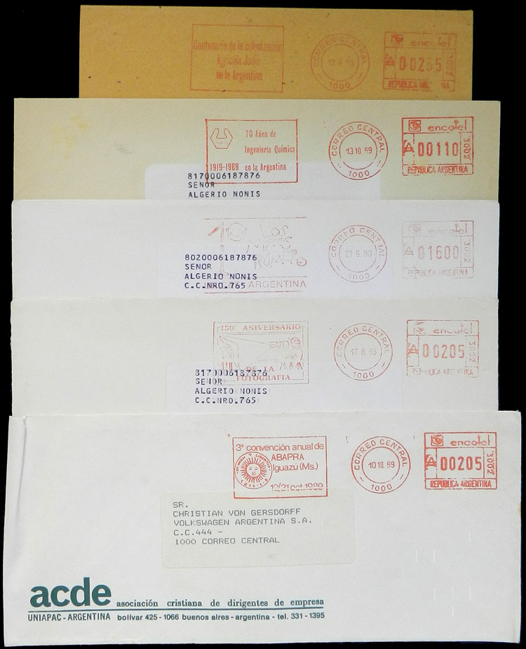 Lot 1636 - Argentina postal history -  Guillermo Jalil - Philatino Auction # 2112 ARGENTINA: Auction with interesting lots at budget prices!