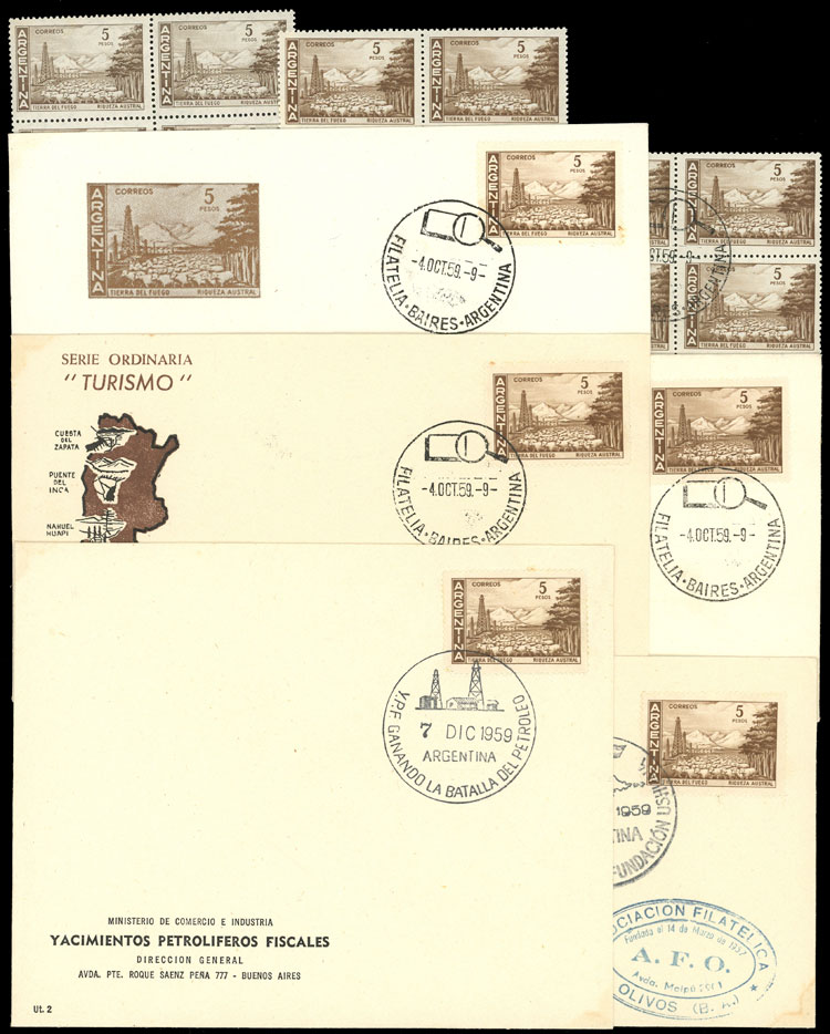 Lot 771 - Argentina general issues -  Guillermo Jalil - Philatino Auction # 2112 ARGENTINA: Auction with interesting lots at budget prices!