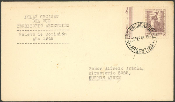 Lot 23 - ARGENTINE ANTARCTICA - ISLAS ORCADAS postal history -  Guillermo Jalil - Philatino Auction # 2112 ARGENTINA: Auction with interesting lots at budget prices!
