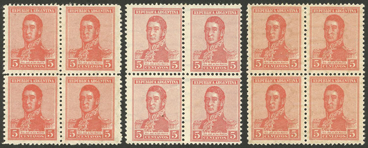 Lot 357 - Argentina general issues -  Guillermo Jalil - Philatino Auction # 2112 ARGENTINA: Auction with interesting lots at budget prices!