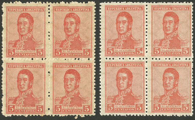 Lot 358 - Argentina general issues -  Guillermo Jalil - Philatino Auction # 2112 ARGENTINA: Auction with interesting lots at budget prices!