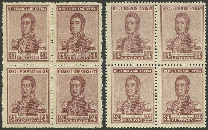 Lot 371 - Argentina general issues -  Guillermo Jalil - Philatino Auction # 2112 ARGENTINA: Auction with interesting lots at budget prices!