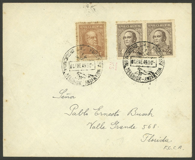 Lot 2 - argentine antarctica postal history -  Guillermo Jalil - Philatino Auction # 2112 ARGENTINA: Auction with interesting lots at budget prices!