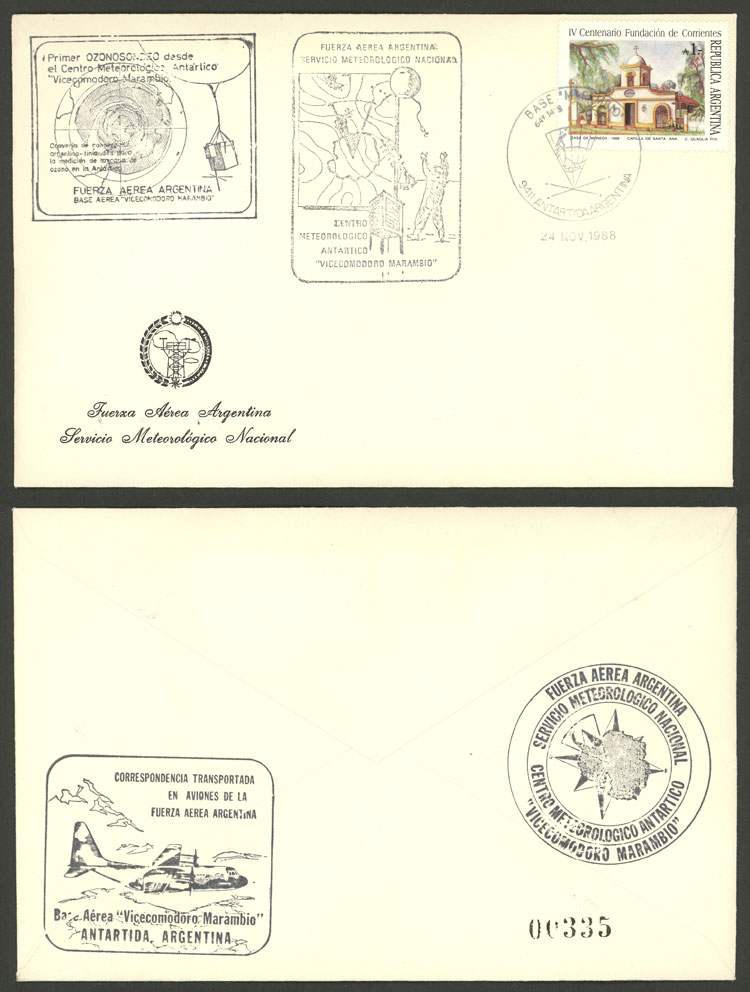 Lot 10 - argentine antarctica postal history -  Guillermo Jalil - Philatino Auction # 2112 ARGENTINA: Auction with interesting lots at budget prices!