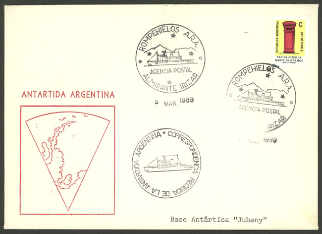 Lot 12 - argentine antarctica postal history -  Guillermo Jalil - Philatino Auction # 2112 ARGENTINA: Auction with interesting lots at budget prices!