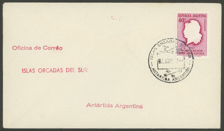 Lot 25 - ARGENTINE ANTARCTICA - ISLAS ORCADAS postal history -  Guillermo Jalil - Philatino Auction # 2112 ARGENTINA: Auction with interesting lots at budget prices!