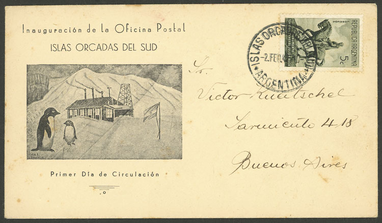 Lot 17 - ARGENTINE ANTARCTICA - ISLAS ORCADAS postal history -  Guillermo Jalil - Philatino Auction # 2112 ARGENTINA: Auction with interesting lots at budget prices!