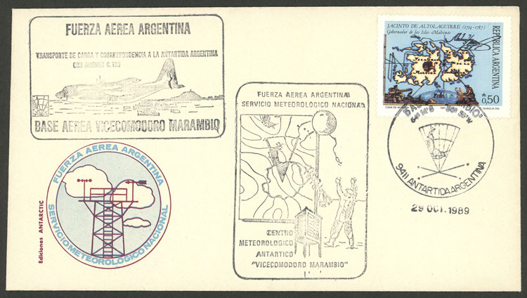 Lot 13 - argentine antarctica postal history -  Guillermo Jalil - Philatino Auction # 2112 ARGENTINA: Auction with interesting lots at budget prices!