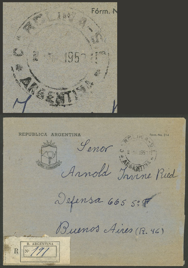 Lot 1512 - Argentina postal history -  Guillermo Jalil - Philatino Auction # 2112 ARGENTINA: Auction with interesting lots at budget prices!