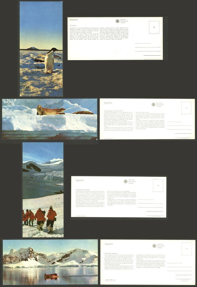 Lot 16 - argentine antarctica postcards -  Guillermo Jalil - Philatino Auction # 2112 ARGENTINA: Auction with interesting lots at budget prices!