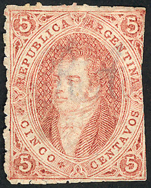 Lot 69 - Argentina rivadavias -  Guillermo Jalil - Philatino Auction # 2112 ARGENTINA: Auction with interesting lots at budget prices!