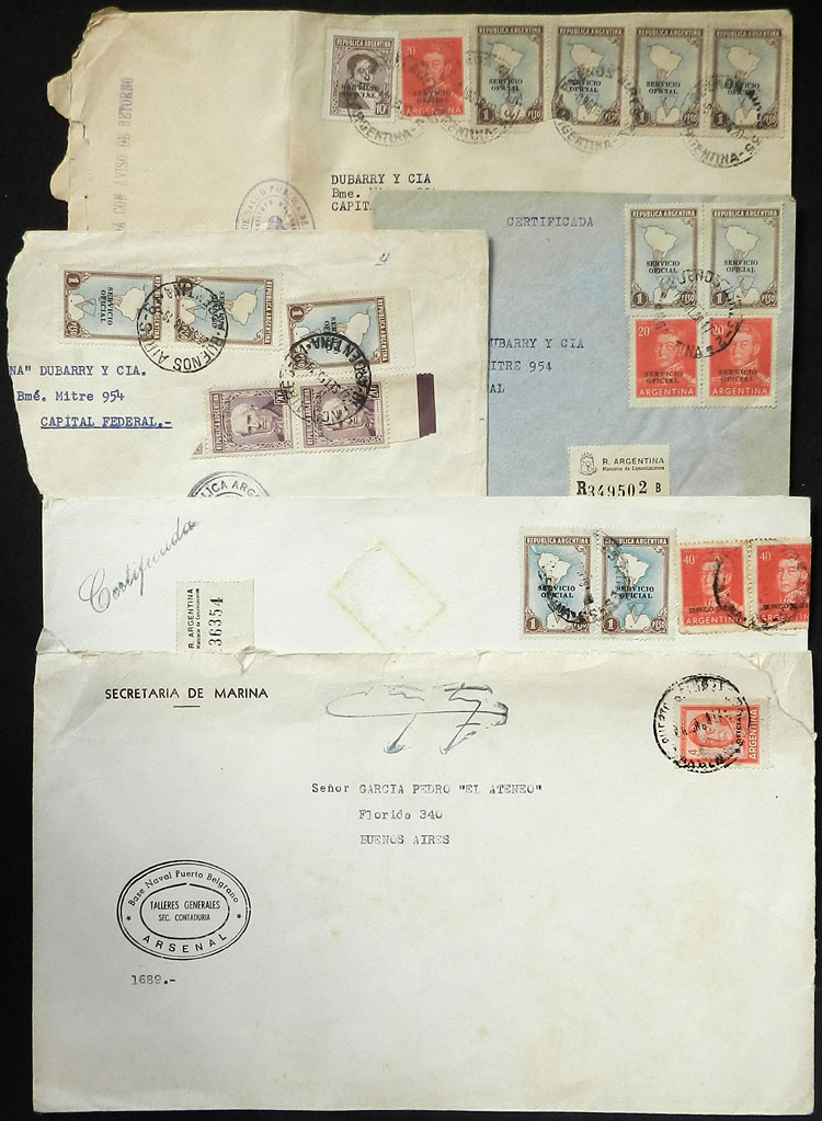 Lot 1589 - Argentina postal history -  Guillermo Jalil - Philatino Auction # 2112 ARGENTINA: Auction with interesting lots at budget prices!