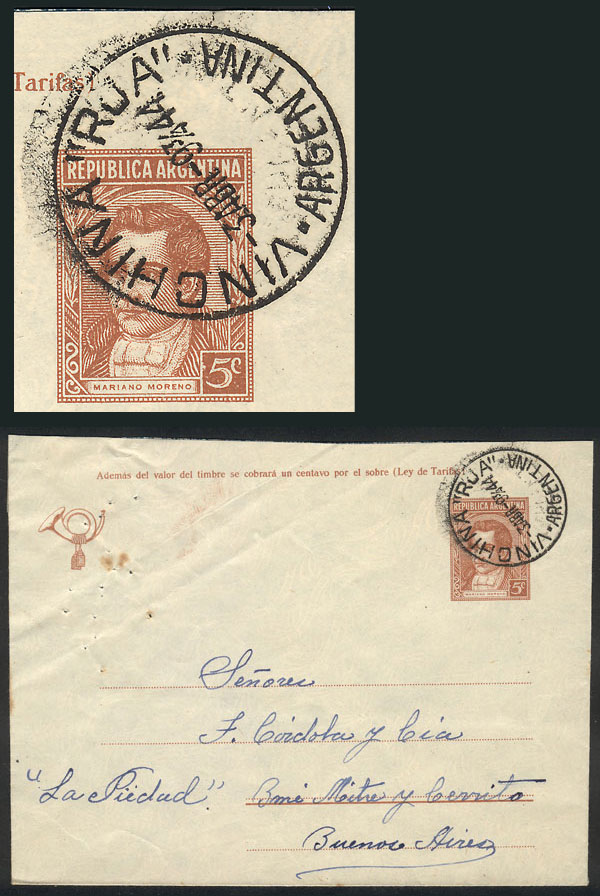 Lot 1495 - Argentina postal history -  Guillermo Jalil - Philatino Auction # 2112 ARGENTINA: Auction with interesting lots at budget prices!
