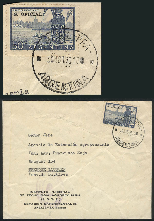 Lot 1600 - Argentina postal history -  Guillermo Jalil - Philatino Auction # 2112 ARGENTINA: Auction with interesting lots at budget prices!