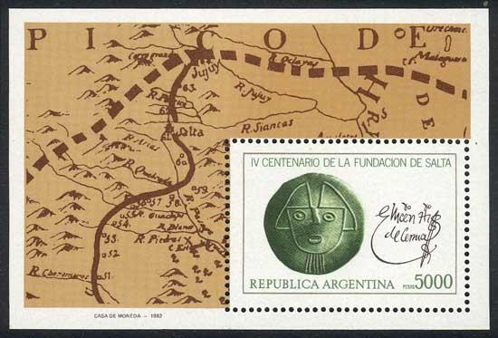 Lot 754 - Argentina souvenir sheets -  Guillermo Jalil - Philatino Auction # 2113 ARGENTINA: